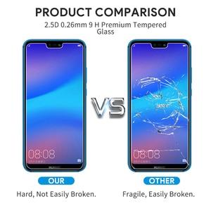 Image 5 - 2pcs מזג זכוכית עבור Huawei P20 לייט זכוכית Huawe P40 אור E P30 P 40 20 פרו P10 בתוספת p9 מיני P8 מסך מגן בטיחות סרט