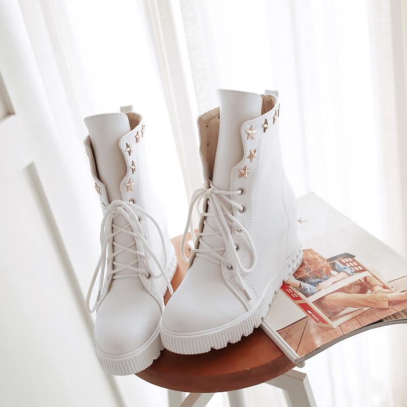 Brock Chaussures Simples Femmes Collège Ronde 2019 Femme Printemps Bottes Mode Britannique Tête Avec Single À Nouveau Des Vent wCqq8xTz