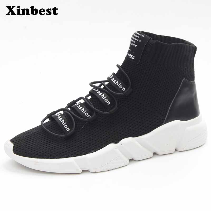 Xinbest Man Woman Brand Breathable Outdoor Athletic Running Shoes Comfortably Outdoor Jogging Fly line Fabric Antiskid Sneakers