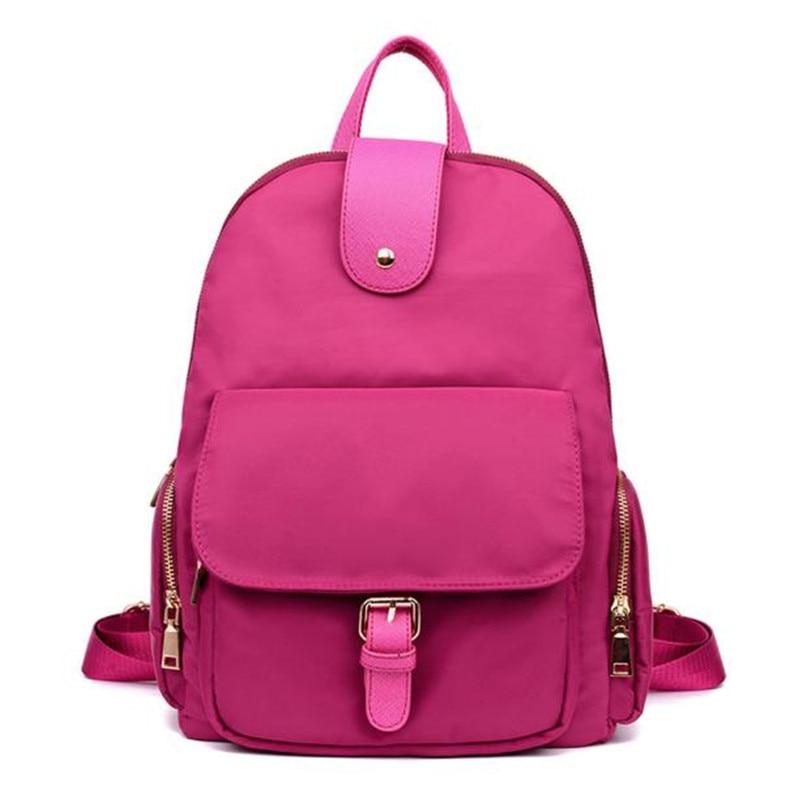 2017 Fashion Women Backpack SolidSchool Nylon Oxford Cloth Backpacks Shoulder Bags Mochila Feminine Bags A8