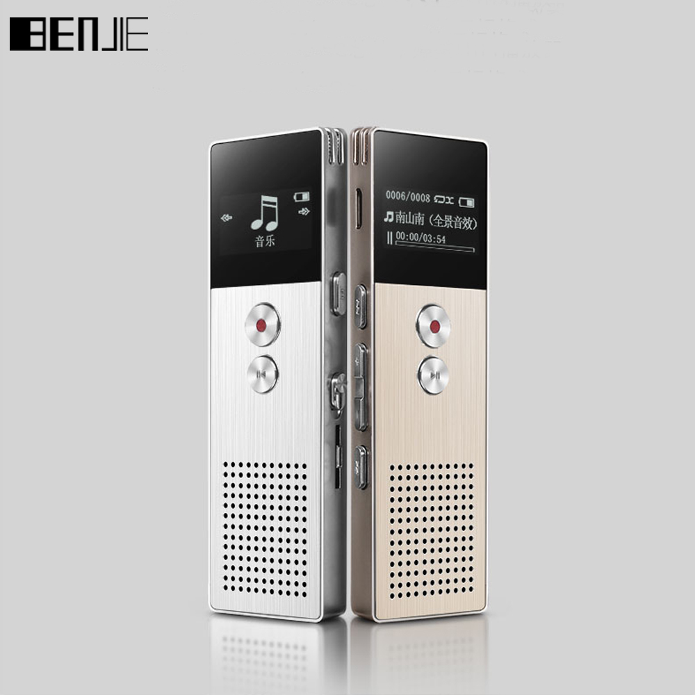 Original BENJIE C6 8GB Professional Audio Recorder Business Portable Digital Voice Recorder Dictaphone With USB Support TF Card цена