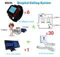 Клиника Беспроводная система вызова медсестры кнопка паники с 30 кнопки вызова  6 наручных часов и 1 номер монитора
