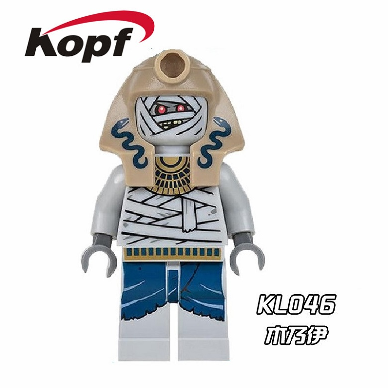 20Pcs KL046 Super Heroes Mummy With Red Snake Medieval Egyptian Viking Warrior Action Bricks Building Blocks Children Gift Toys