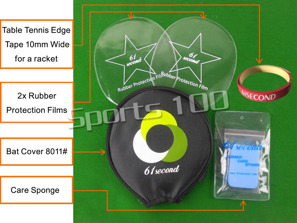61second Small Case 8011# Table Tennis Accessories Set For Table Tennis Ping Pong Racket