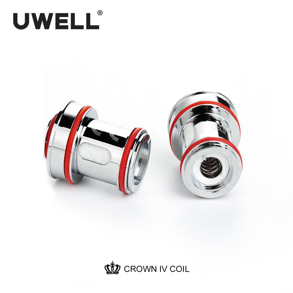 UWELL 5 пакетов Crown 4 (Crown IV) 0,23/0,2/0.4ohm катушка двойная SS904L и сетка UN2 катушка голова КОРОНА 4 танк электронная сигарета ядро