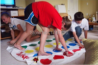 Gratis Verzending fun classic party game twister game165 * 131 cm body twister Speelkleed board game beste familie game met vrienden
