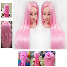 Styling Training Head Hairdressing dolls head with pink hair Female Mannequin Nice high quality