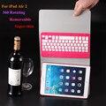El más nuevo diseño extraíble 2 en 1 360 Degree rotación teclado Bluetooth inalámbrico PU del soporte del cuero funda para el iPad 6 / aire 2