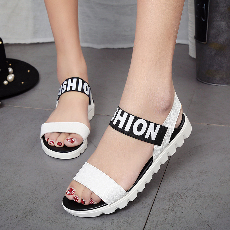 2017 Summer Flat Sandals Women Shoes Fashion Ladies Shoes Sandalias Mujer Platform Open Toes Shoes Woman Chaussure Femme 25 weweya casual gladiator female flats sandals 2017 new platform open toes shoes women summer wedges shoes woman sandalias sapatos