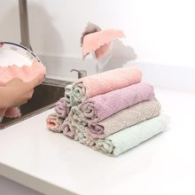 5pcs/lot Home microfiber towels for kitchen Absorbent thicker cloth cleaning Micro fiber wipe table towel