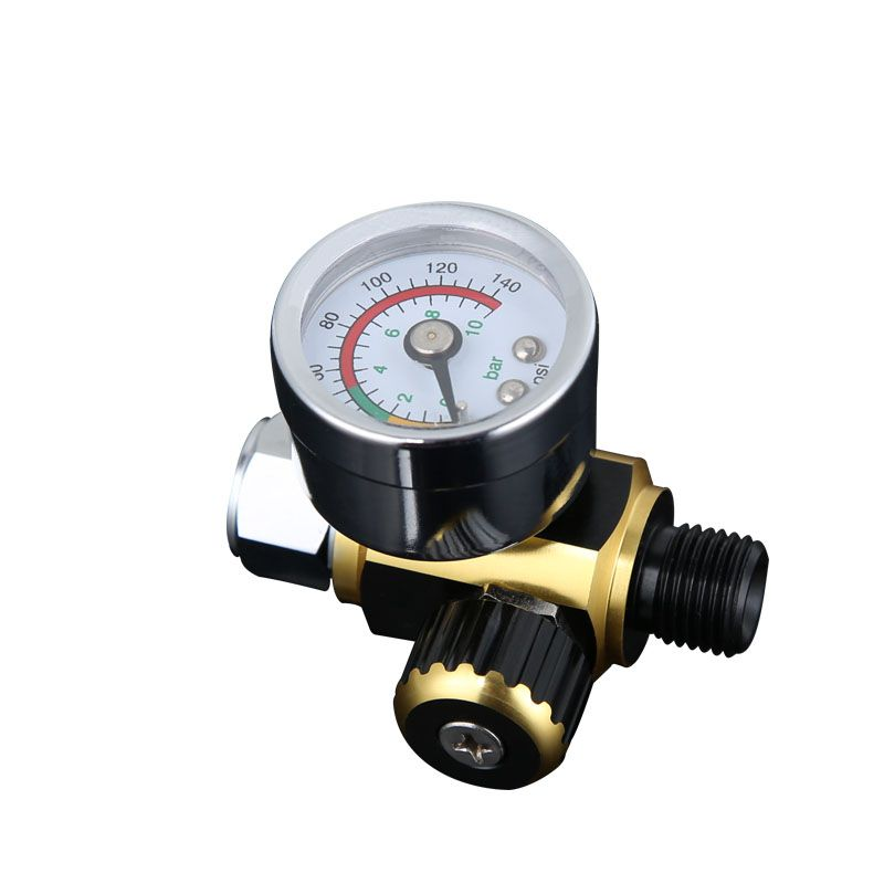 Air Line Control Compressor Pressure Gauge Relief Regulating Regulator pressure regulator spray gun regulator compressor air control pressure gauge relief regulating regulator valve with 6mm hose fittings