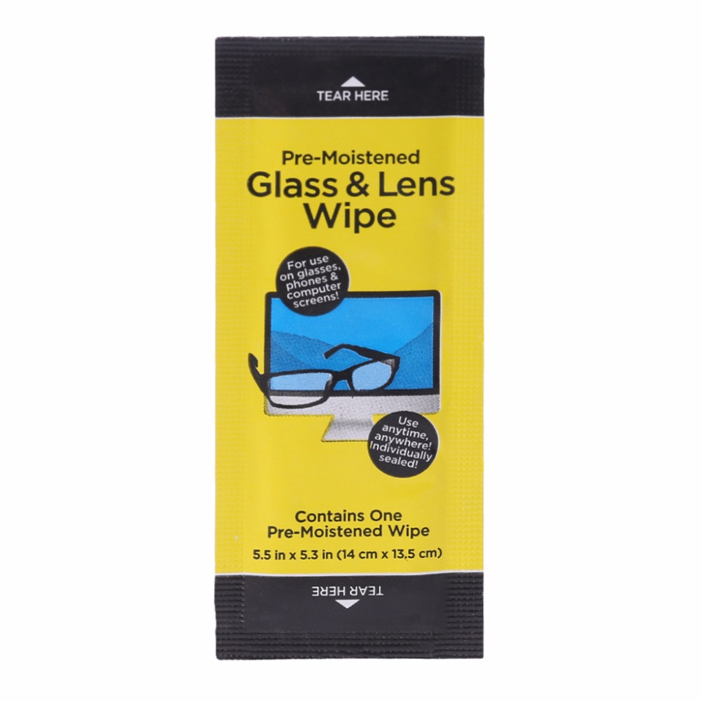 10Pcs Glasses & Lens Wipes Sreen Moist Cleansing Cloth Alcohol Wet Paper Anti Fog Towelette Portable Wet Wipes