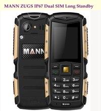 D'origine MANN ZUGS 2.0 Pouce Écran Antipoussière Antichoc Extérieur Clavier Principal Robuste Extérieure Mobile Téléphone Double Carte Sim
