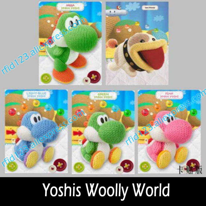 5PCS Yoshi Wolly World NTAG215 NFC Card Written by Tagmo Can Work For Switch Latest Data