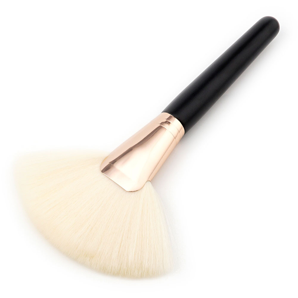 Makeup Large Fan Goat Hair Blush Face Powder Foundation Cosmetic Brush   F928