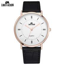 Liber Aedon Unique Leather Strap Men Watches Casual Sport Quartz Men's Wrist Watch Great Brand Top Luxury Men Watches Relogio