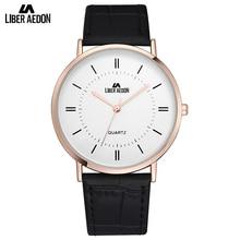 Liber Aedon Unique Leather Strap Men Watches Casual Sport Quartz Men's Wrist Watch Great Brand Top Luxury Men Watches Relogio