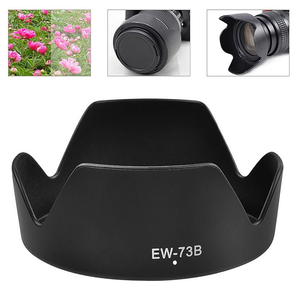Asdomo EW 73B Lens Hood For Canon 650D 550D 600D Camera Len Cover for Canon EF S 18 135mm P0.3-in Photo Studio Accessories from Consumer Electronics