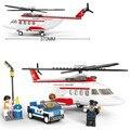 Sluban aircraft Helicopter model airplane aviation Transport DIY Model Building Blocks Bricks Toys Gift Compatible with Legoe