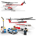Sluban aviones Helicóptero modelo de avión de la aviación de Transporte Modelo DIY Bloques de Construcción Juguetes de Los Ladrillos de Regalo Compatible con Legoe