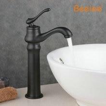 Beelee BL9025BH Черный мода кран старинные холодная и горячая вода осветляющий медь искусство бассейна счетчик бассейна черный античный кран