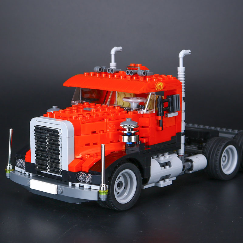 IN-STOCK New lepin 24023 BUILERDS 607PCS Truck trailer 3IN1 Toy building blocks 4955 bricks compatible RACING MODEL CAR Gift