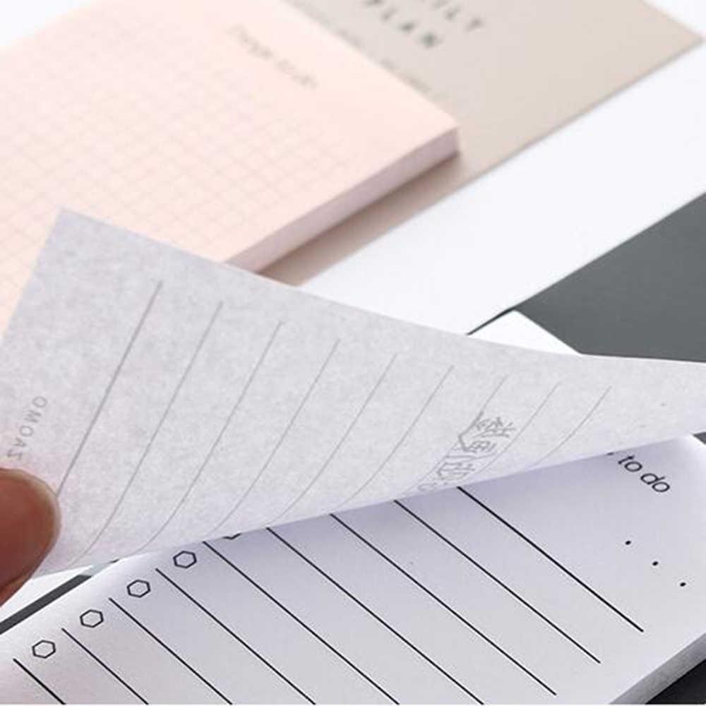 ขนาดเล็ก Super Sticky Notes Notepad DIY แฟชั่นอุปกรณ์สำนักงานน่ารัก Memo Pad Pastel สติกเกอร์ Sticky Notes Weekly Planner