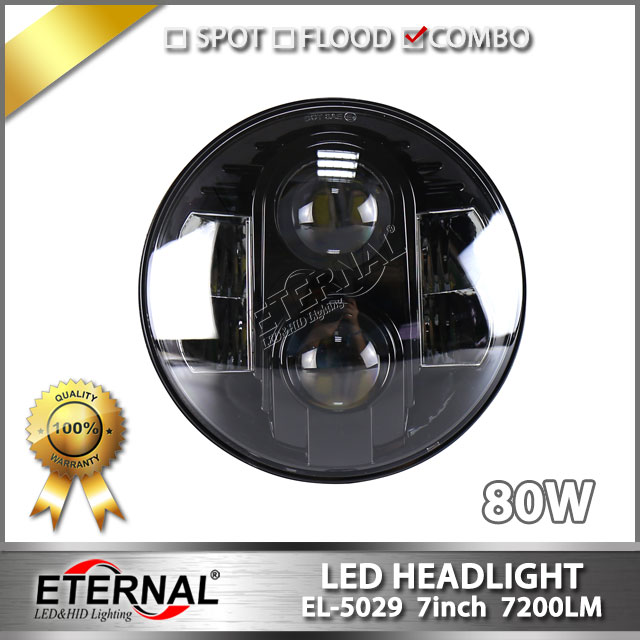 8pcs 80W 7in high power led dual sealed hi-low beam 4x4 offroad led headlight for heavy-duty trucks projector daymaker headlamp. czg 5755 55w led high power 5x7 led headlight with hi low beam angel eye for jeep trucks offroad 7 led work head lamps e9 mark