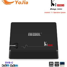 MECOOL KI PRO Android 7.1 TV Box KI pro Amlogic S905D Quad Core 64 peu DVB-T2 DVB-S2 DVB-C 2G 16G Set Top Box CCCAM NEWCAMD