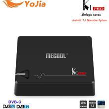 D'origine MECOOL KI PRO Amlogic S905D Quad Core 64 peu Android 7.1 TV Box DVB-T2 DVB-S2 DVB-C 2G 16G Set Top Box CCCAM NEWCAMD