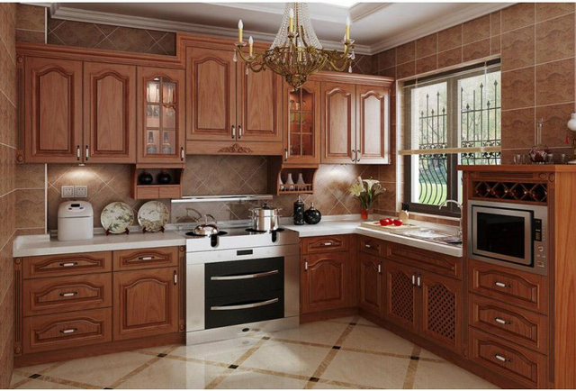 Modern Kitchen design wood kitchen cabinet 0436-in Kitchen Cabinets ...