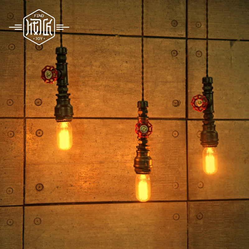 Edison Loft Style Vintage Industrial lighting Retro Water Pipe Pendant Lamp Fixtures For Dinning Room Hanging lights Lamparas american loft style water pipe lamp retro edison pendant light fixtures for dining room hanging vintage industrial lighting