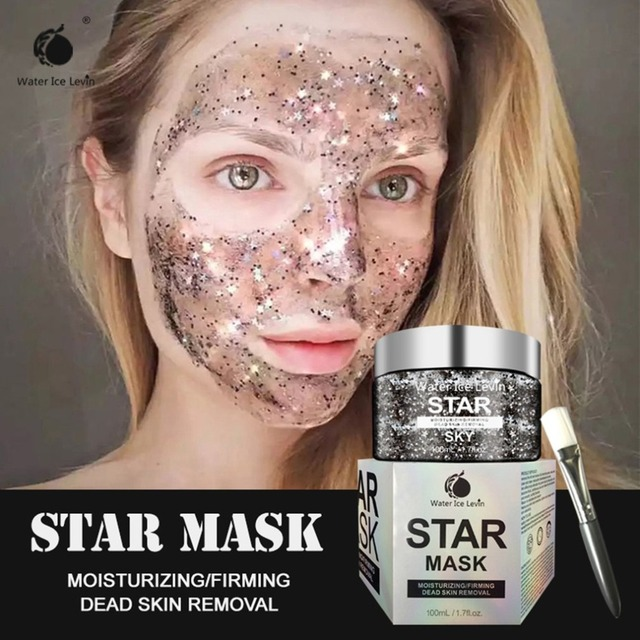 STAR MASK Glitter Gold Peel off Black Face Mask From Black Dots Blackhead Remover Korean Facial Masks Face Skin Care 1