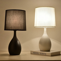 LED Study Lamp Desk Light Table Lamp for Bedroom Home Decoration Indoor Lighting Fixtures Nordic Iron Cloth Design Creative Art