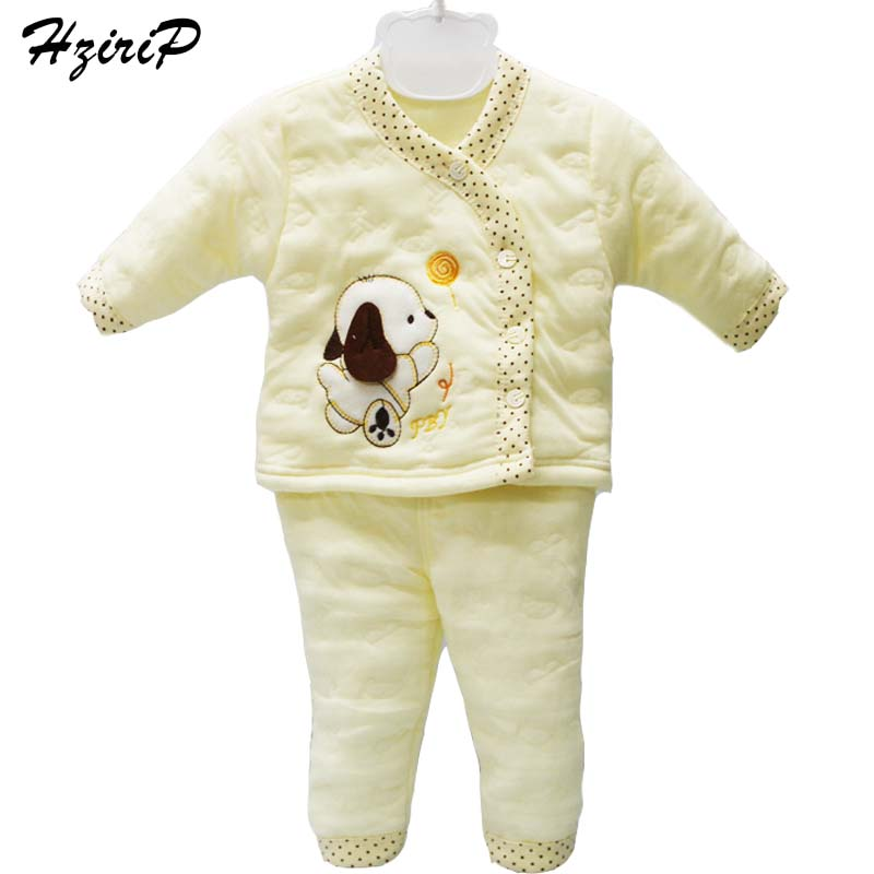 Baby Sets 2016 New Autumn Winter Long Sleeve Cotton Sets Baby Boy Clothes Baby Girls Clothes Infant Underwear For Newborn Suit