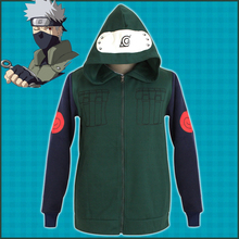 New NARUTO Cosplay Costume Hatake Kakashi Jackets Hoodie Cotton Uniform Outfit Anime Halloween Carnival