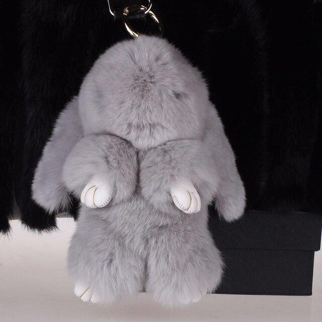 Рекс Кролика банни Симпатичный брелок Кукла брелки Кулон Кошелек Pom Автомобиль с лучший подарок брелки