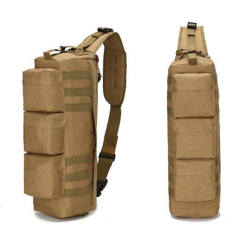 Sac à bandoulière de pêche en plein air tactique Camouflage militaire sac à dos à une épaule sac de Sport 6 couleurs - 5