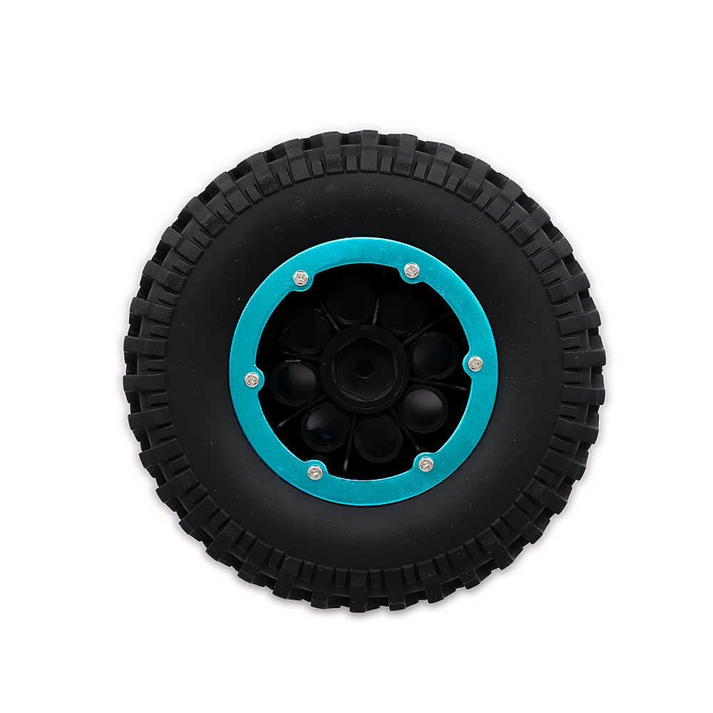 Coche RC 4x100mm con relleno de aire inflado 1,9 rueda de bloqueo de cuentas neumático terreno banda de barro para 1:10 camión monstruo oruga de roca