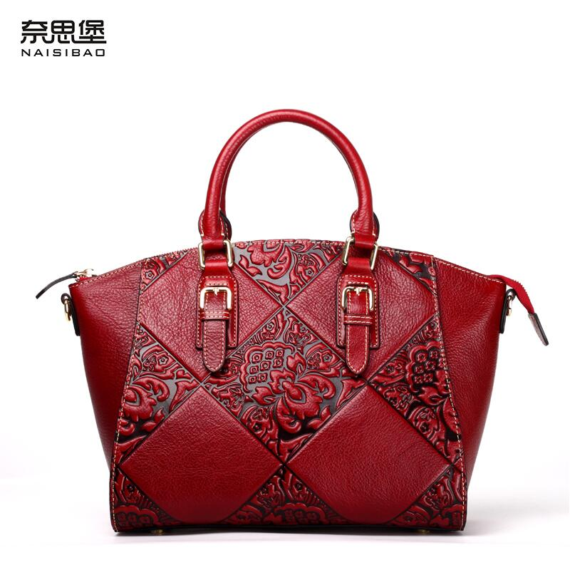 NAISIBAO high quality fashion luxury brand 2016 new shoulder diagonal genuine leather bag counter genuine women