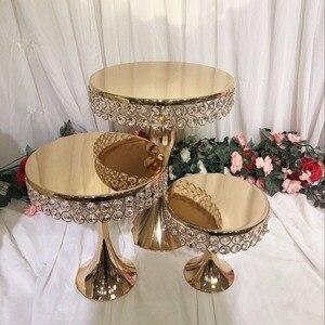 Présentoir de gâteau de table en cristal   Grandes pièces de center de table de mariage, chandelier décoration de gâteaux, support de décoration de gâteaux, table de cupcake macaron de fondant