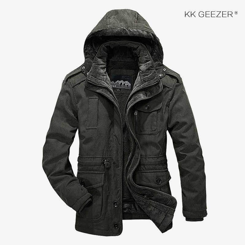 Jaqueta de inverno homens parkas lã 2019 tamanho grande lã de algodão-acolchoado superior quente à prova dwaterproof água alta qualidade engrossar masculino pesado 2 em 1 casaco
