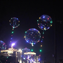 10pcs Led Balloon Transparent globos cumpleanos infantiles Wedding Birthday Party Decorations Kids Adult BOBO orbs Air Balloons