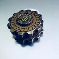 Retro Magic Compass Pirate Hand Spinner Gear Gyro Finger Metal Fidget Spinner Torqbar Brass EDC Adult
