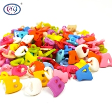HL 50/100PCS Mix Color Alphabet Plastic Buttons Shank DIY Crafts Childrens Clothing Sewing Accessories Tools