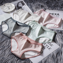 Fashionable Cotton Womens Underwear Female Lace Edge Breathable Briefs Sexy Women Crotch Lingerie Intimates