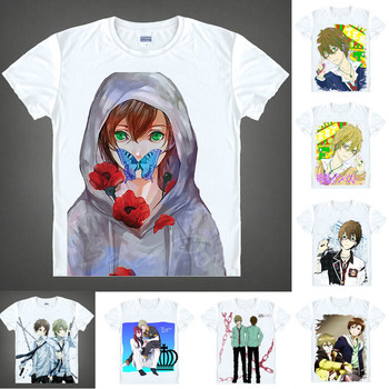 943f3a6c931 Coolprint аниме рубашка Blast of футболки с бурей мульти-стиль короткий  рукав Zetsuen no Tenpesuto Mahiro Fuwa Косплей Motivs рубашки