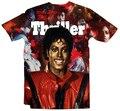 2015 Summer style Thriller Michael print 3d t shirt men/women Fashion tshirt unisex street wear camisa masculina plus size S-XXL