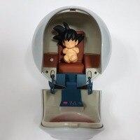 Dragon Ball Z Figures Baby Son Goku Kakarotto With Spaceship PVC Action Figure Spacecraft Toy Super Goku Anime Super Saiyan Hot