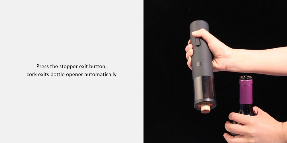 Xiaomi Huohou Automatic Red Wine BottleWine Stopper Electric Corkscrew Foil Cutter Cork Out Tool for Xiaomi Smart Home Kits H15 (18)